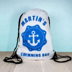 Personalised Kids Drawstring Swimming Sports Bag