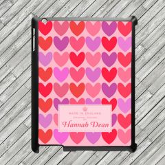 Personalised Pink Love Hearts Tablet and iPad Case