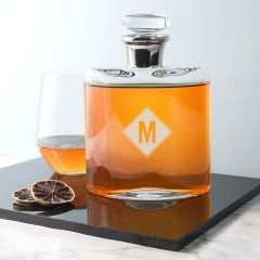 Personalised Monogrammed Platinum Neck Decanter