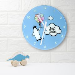 Personalised Percy Penguin Wall Clock