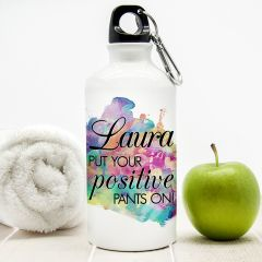 Personalised Positive Pants Water Bottle