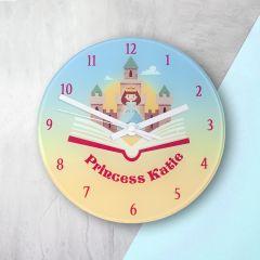 Personalised Princess & Castle Bedroom Clock