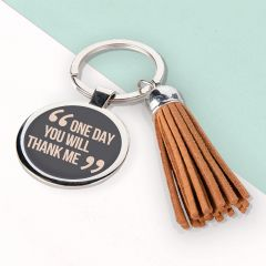 Personalised Quotes By Mum Tassle Keyring