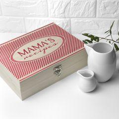 Personalised Retro Stripe Recipe Box