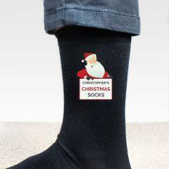 Personalised Santa Christmas Socks