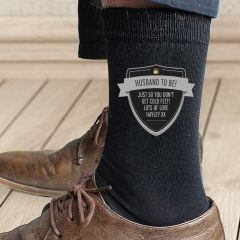 Personalised Classic Design Shield Men's Socks