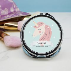 Personalised Sparkle Squad Round Compact Mirror