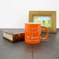 Personalised The Best Teacher Coloured Mug