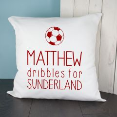 Personalised Baby Dribbles Football Team Cushion Cover