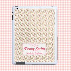 Personalised Traditional Flower Print Tablet and iPad case