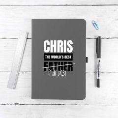 Personalised World's Best Farter A5 Notebook - 8 Colours