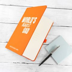 Personalised World's Okayest Dad A5 Notebook - 8 Colours