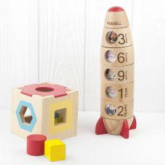 Personalised Baby Photo Rocket Toy