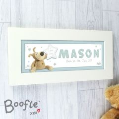 Personalised Boofle Bear It's a Boy Name Frame