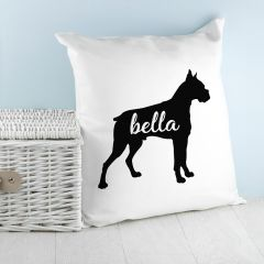 Personalised Boxer Dog Cushion Cover