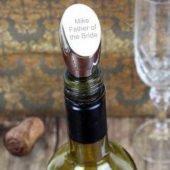 Personalised Contemporary Silver Plated Wine Stopper