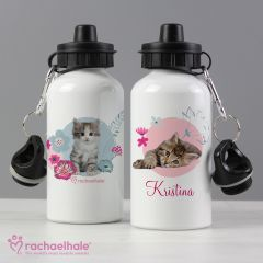 Personalised Cute Kitten Drinks Bottle by Rachael Hale
