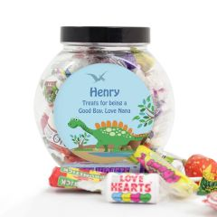 Personalised Dinosaur Design Sweets Jar