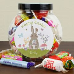 Personalised Easter Bunny Sweets Gift Jar