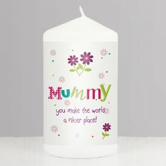 Personalised Patchwork Flower Candle Gift