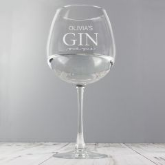 Personalised Gin Balloon Glass