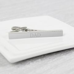 Personalised Initials Silver Plated Tie Clip