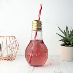 Personalised Lightbulb Shaped Cocktail Glass