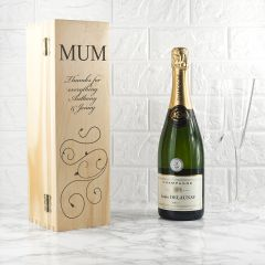 Personalised Mum Wooden Wine Box