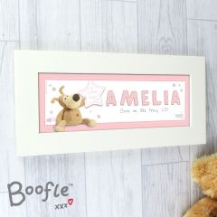 Personalised Boofle Bear It's a Girl Name Frame