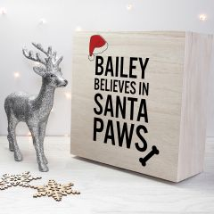 Personalised Santa Paws Dog Christmas Eve Box