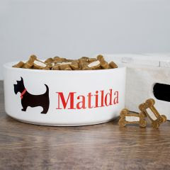 Personalised Scottie Dog Bowl