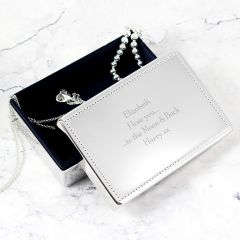 Personalised Any Message Rectangular Design Jewellery Box