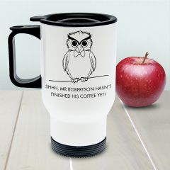 Personalised Teacher's Shhhh Insulated Travel Mug