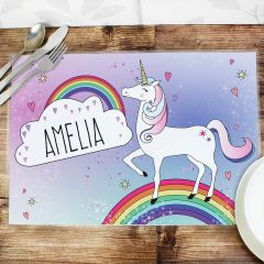 Personalised Unicorn Design Placemat