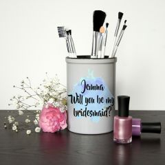 Personalised Will You Be My Bridesmaid Mini Blue Champagne Bucket