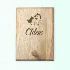 Personalised Wooden Engraved Unicorn Peg Hook
