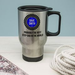 Personalised Probably The Best Step Dad In The World Travel Mug