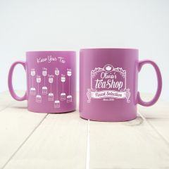 Personalised Silhouette Tea Expert Mug