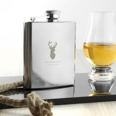 Personalised Stag Hip Flask