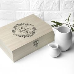 Personalised Wooden Tea Box