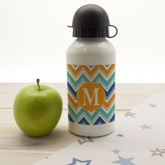 Personalised Vibrant Zig Zagged Water Bottle