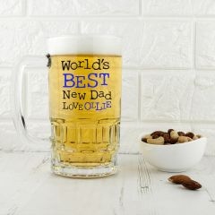 Personalised Probably The Best New Dad In The World Beer Tankard
