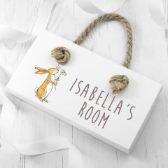 Personalised Guess How Much I Love Blossoming Little Nutbrown Hare Door Sign
