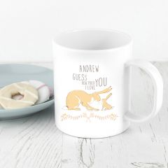 Personalised Guess How Much I Love You Unbreakable Mug