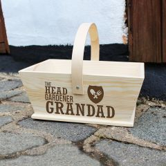 Personalised Pine Head Gardener Trug
