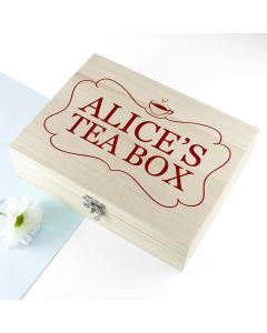 Personalised Red 'Love Chai' Tea Box With Name