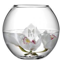 Personalised Monogrammed Round Fishbowl Vase
