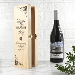 Mother's Day Wine Box With Floral Corners