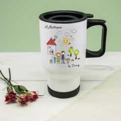 My Mini Masterpiece Personalised Artwork Travel Mug