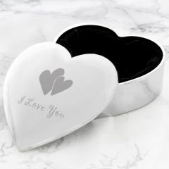 I Love You Heart Shaped Trinket Box